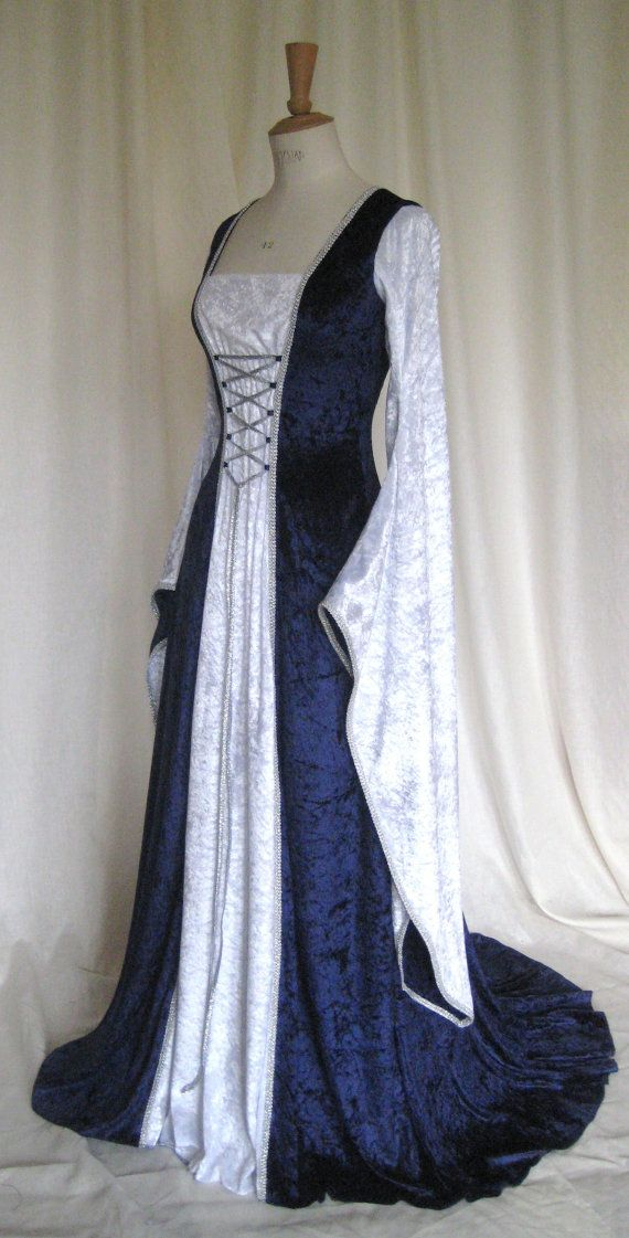 Beautiful Blue & White Renaissance Gown ~ Gorgeous Garb! | The All\'s ...